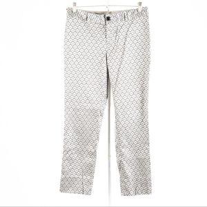 Banana Republic – Silver Brocade Camden Pants – 6